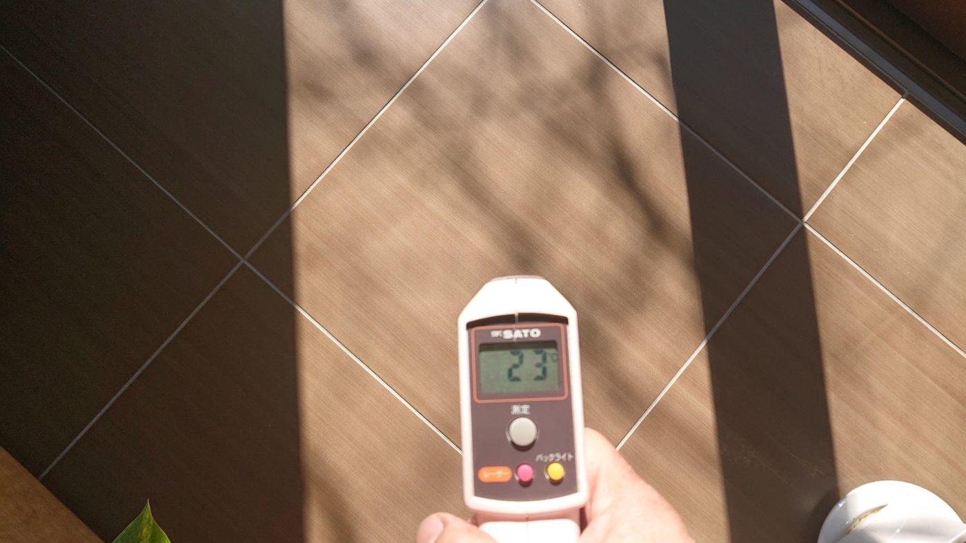 熱容量確保のためのタイル土間